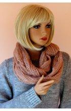 Pletená šála růžová