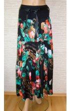 Dlouhá černá letní sukně