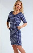 Modré úpletové šaty