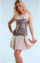 Společenské šaty se širokou sukní