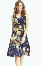 Letní modré šifónové šaty