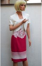 Dámské šaty s bolerkem pro plnoštíhlé