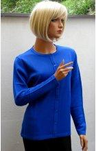 Dámský propínací svetřík modrý