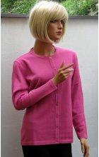 Dámský propínací svetřík růžový