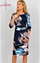 Dámské úpletové šaty modré