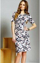 Dámské šaty s krátkým rukávem pro plnoštíhlé