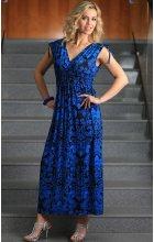 Dámské letní dlouhé šaty modré