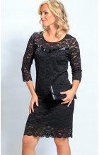 Černé krajkové šaty i pro plnoštíhlé