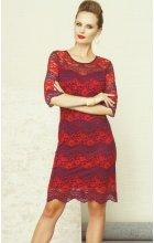 Dámské krajkové šaty červené