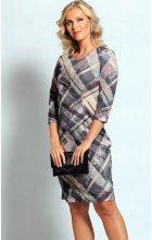 Dámské fialkové šaty s rukávem
