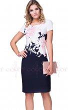 Dámské pouzdrové šaty s krátkým rukávem