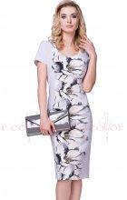 Elegantní zeštíhlující šaty šedé