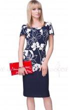 Tmavě modré dámské letní šaty