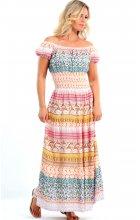 Dlouhé letní šaty pro plnoštíhlé - Noel boutique e7b8edbfd99