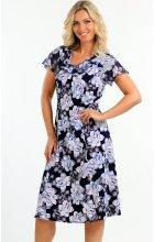 Letní šaty s rukávem pro plnoštíhlé