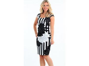 Dámské černobílé letní šaty