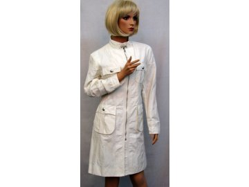 Jarní kabát bílý