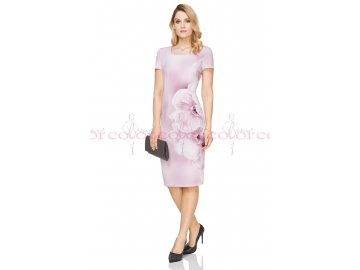 Růžové letní šaty i pro plnoštíhlé L273