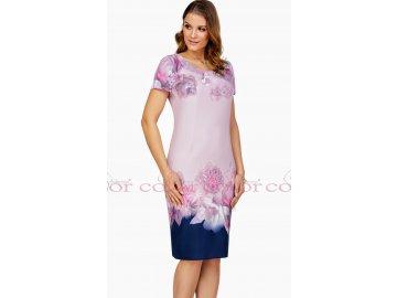 Zeštíhlující pouzdrové šaty s krátkým rukávem kód L360