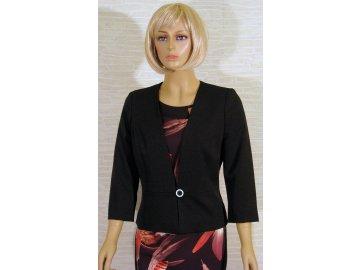 Černé dámské sako krátké