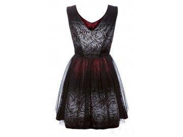 Dívčí společenské šaty s černou tylovou sukní