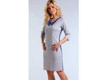 Úpletové šaty s rukávem