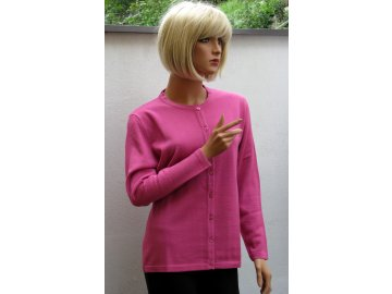 Dámský propínací svetr růžový