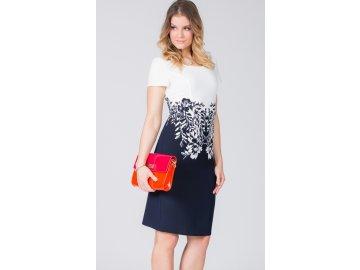 Dámské bílé šaty s krátkým rukávem L210