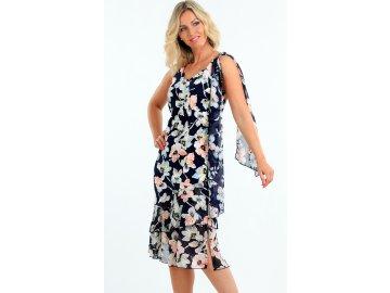 Letní společenské šaty s rozšířenou sukní