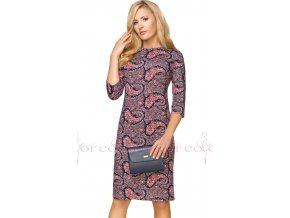 Dámské šaty s kašmírovým vzorem A709