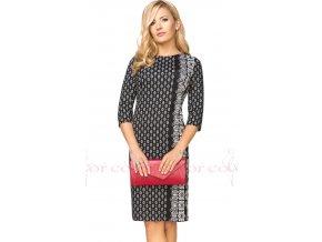 Zeštíhlující dámské šaty s rukávem