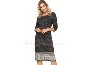 Černé dámské vzorované šaty