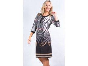 Elegantní úpletové šaty i pro plnoštíhlé K7155