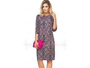 Dámské úpletové šaty barevné A707