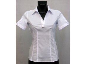 Bílá košilová halenka