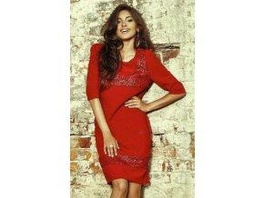 Červené polečenské šaty