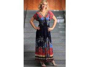 Dlouhé letní šaty s orientálním vzorem