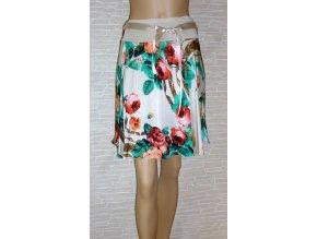 Krátká letní sukně s květy