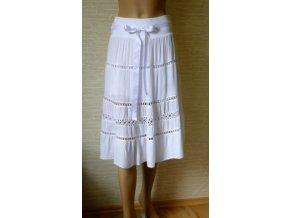 Letní bílá bavlněná sukně