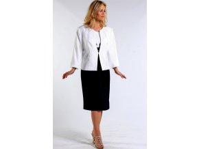 Bílé sako pro plnoštíhlé