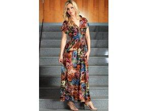 Dlouhé společenské letní šaty hnědé - velikost S - XXL. Kód ...