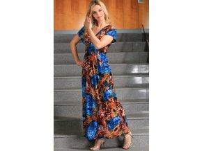 Dlouhé letní šaty i pro plnoštíhlé - velikost S - XXL. Kód H476