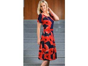 Červené letní šaty jako z hedvábí