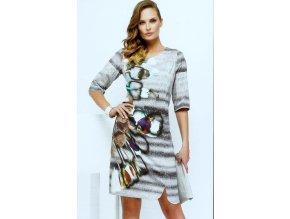 Dámské šaty s abstraktním vzorem