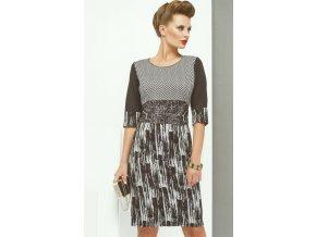 Černobílé dámské pouzdrové šaty