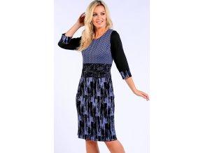 Dámské zeštíhlující šaty modré