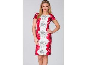 Dámské červené šaty pro plnoštíhlé