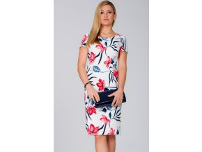Dámské šaty s krátkým rukávem L217