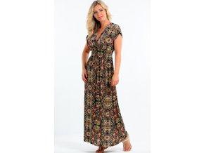 Dlouhé dámské šaty i pro plnoštíhlé