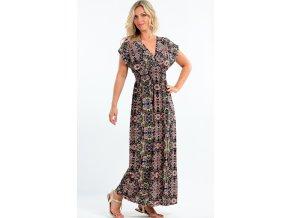 Dlouhé letní šaty pro plnoštíhlé